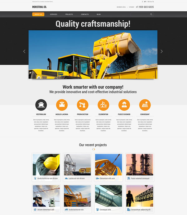 Compact-Industrial-WordPress-Theme