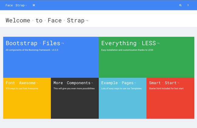 FaceStrap-Bootstrap-Skin-UI-Kit