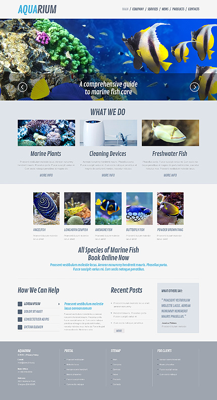 Fish and Aquarium WordPress Theme