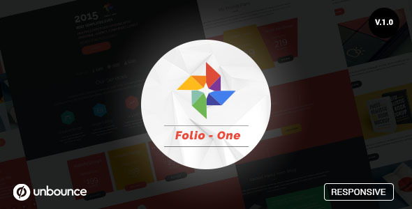 Folio One - Unbounce Marketing Template