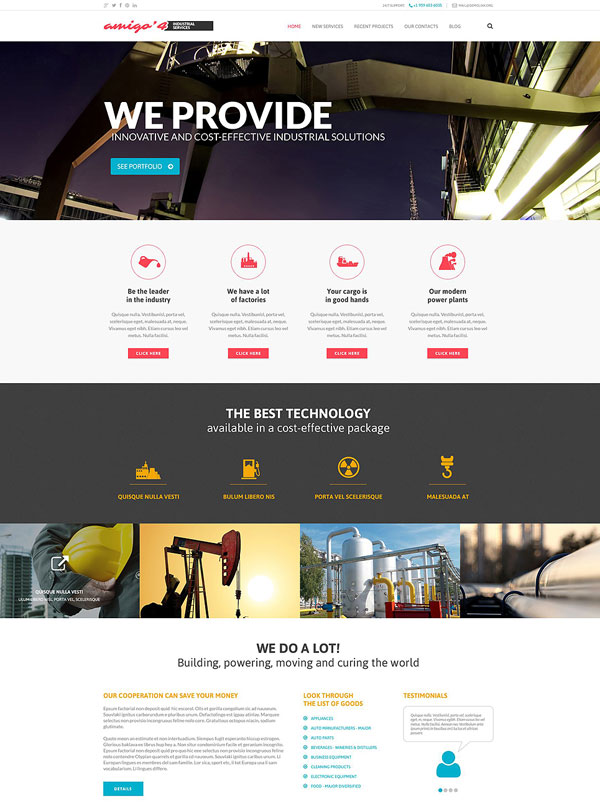 Industrial-Agency-WordPress-Theme