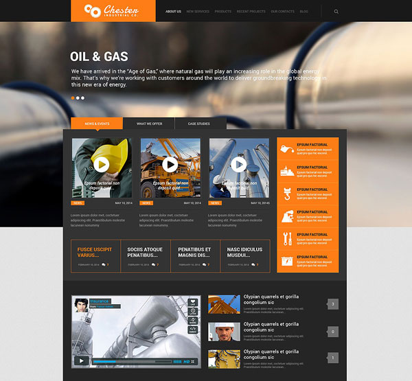 Industrial-Company-WordPress-Theme