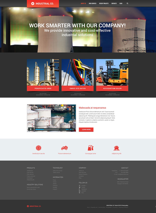 Industrial-for-Evolution-WordPress-Theme