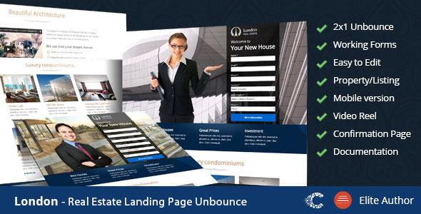 London - Real Estate Landing Page