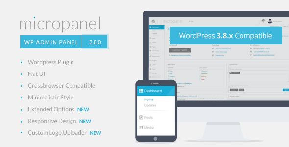 Micropanel 2 - FLAT WordPress Admin Theme