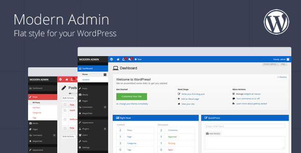 Modern Admin - Flat WordPress Admin Theme