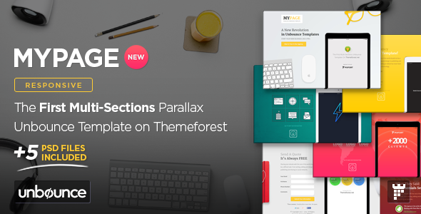 MyPage - Multi-Sections Parallax Unbounce Template