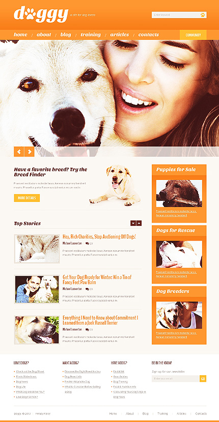Pet Store WordPress Theme