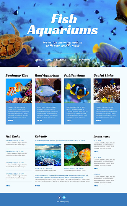 Top-Notch Theme for Fish Store and Aquarium Blog