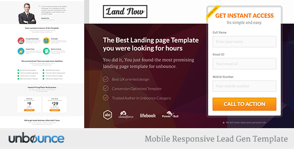 Unbounce Responsive Landing Page Template