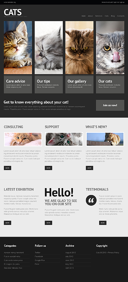 WordPress Theme for Cats and Dogs