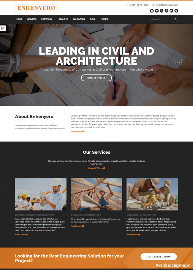 enhenyero-engineering-industrial-wordpress-theme
