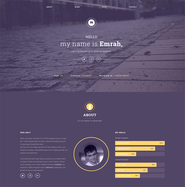 free-clean-and-elegant-one-page-psd-template