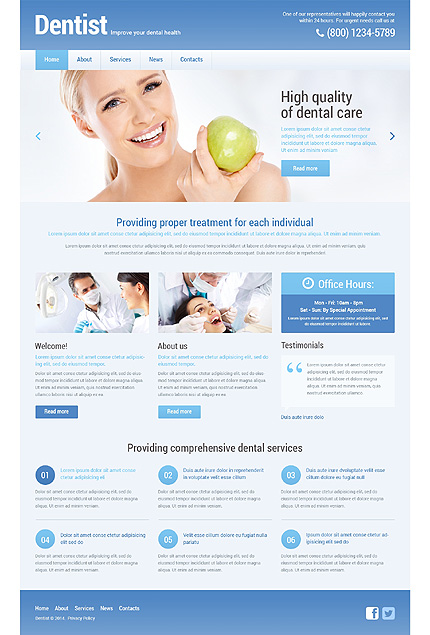 Dentists WordPress Template