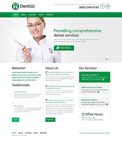 Lasting Teeth Repair WordPress Template