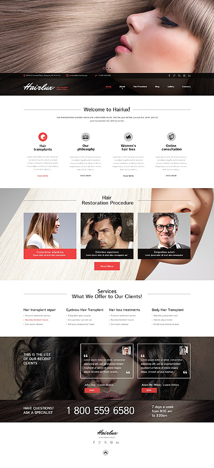 Luxurious Hair Responsive WordPress Site