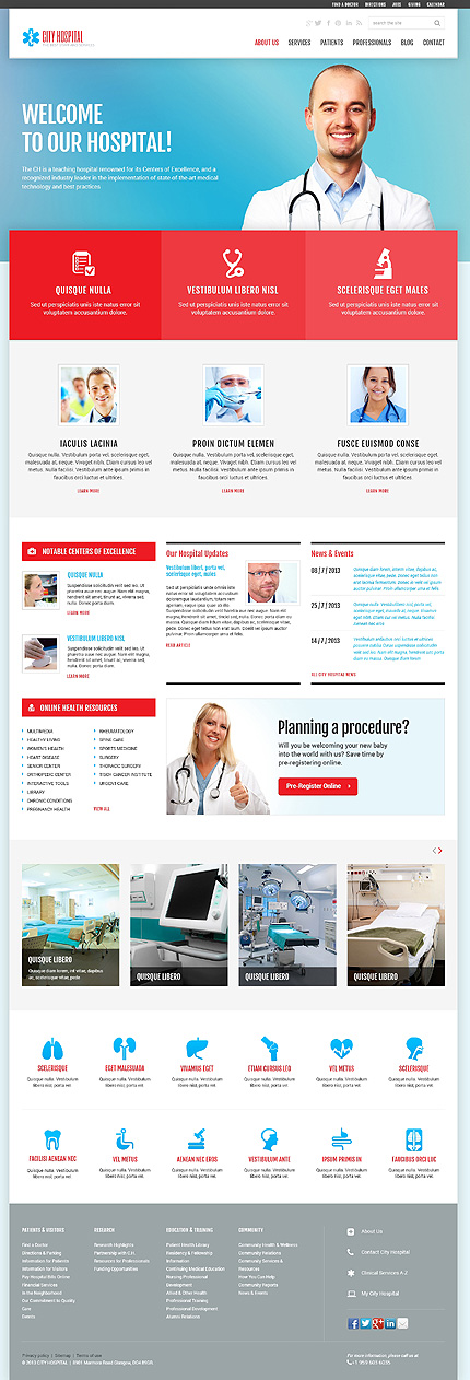 Medical Services WordPress Theme