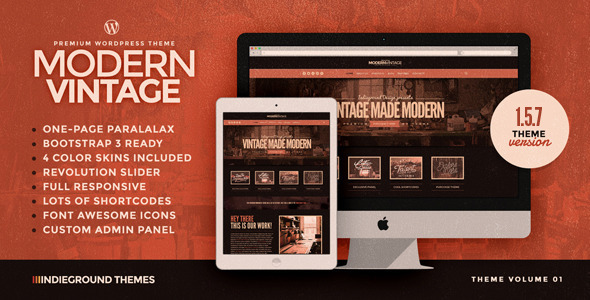 Modern Vintage - Premium One Page WordPress Theme