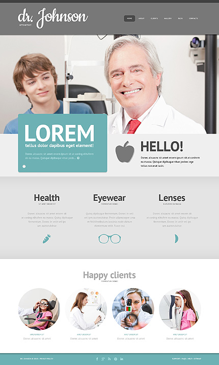 See the Difference WordPress Design for Optometrists