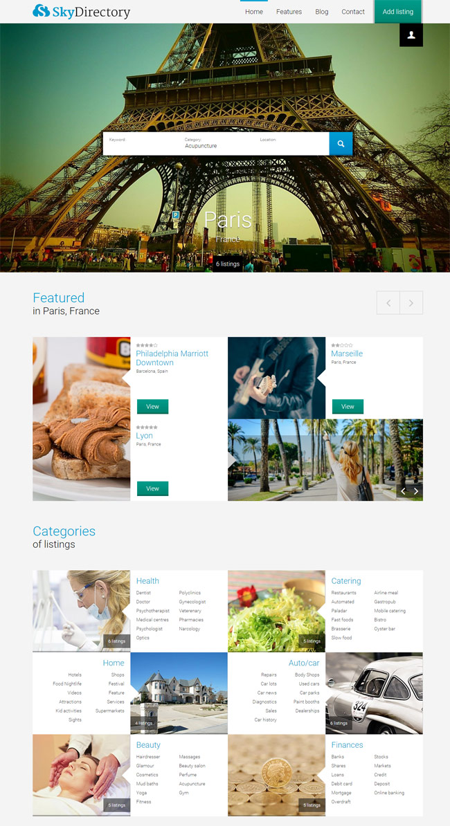 Sky-WordPress-Listings-Theme