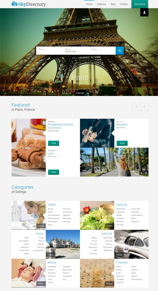 Sky-WordPress-Listings-Theme