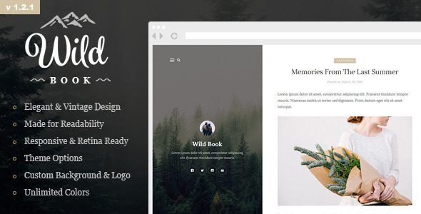 Wild Book - Vintage and Elegant WordPress Theme