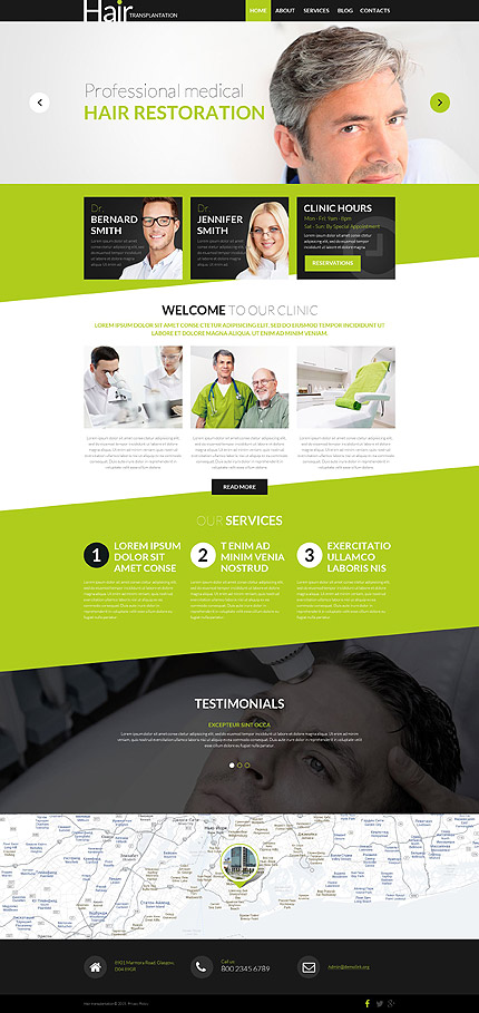 WordPress Theme for Hair Clinic