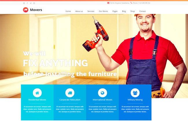 15 best transportation and logistics wordpress themes for for express movers express movers moving company wordpress theme maxwellsz