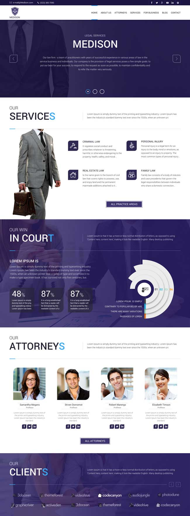MyLawyer Lawyer Attorney WordPress Theme