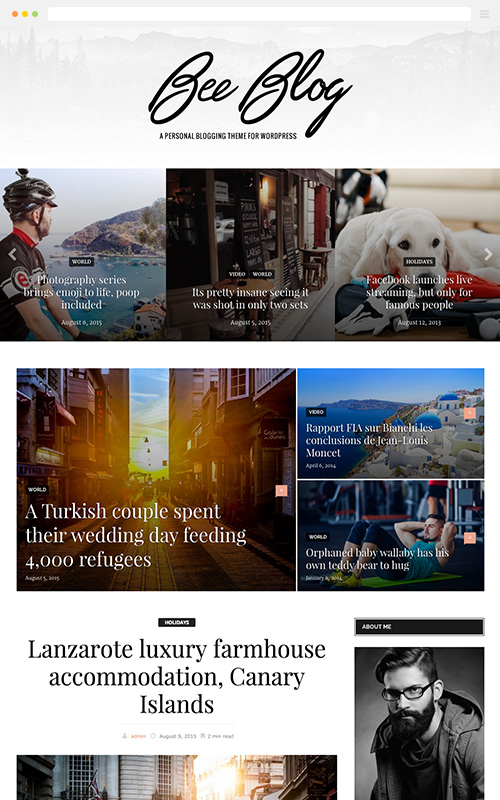 BeeBlog A Responsive WordPress Blog Theme