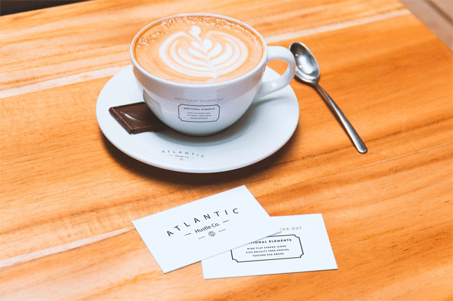 Business-Cards-and-Coffee-Cup-PSD-Mockup