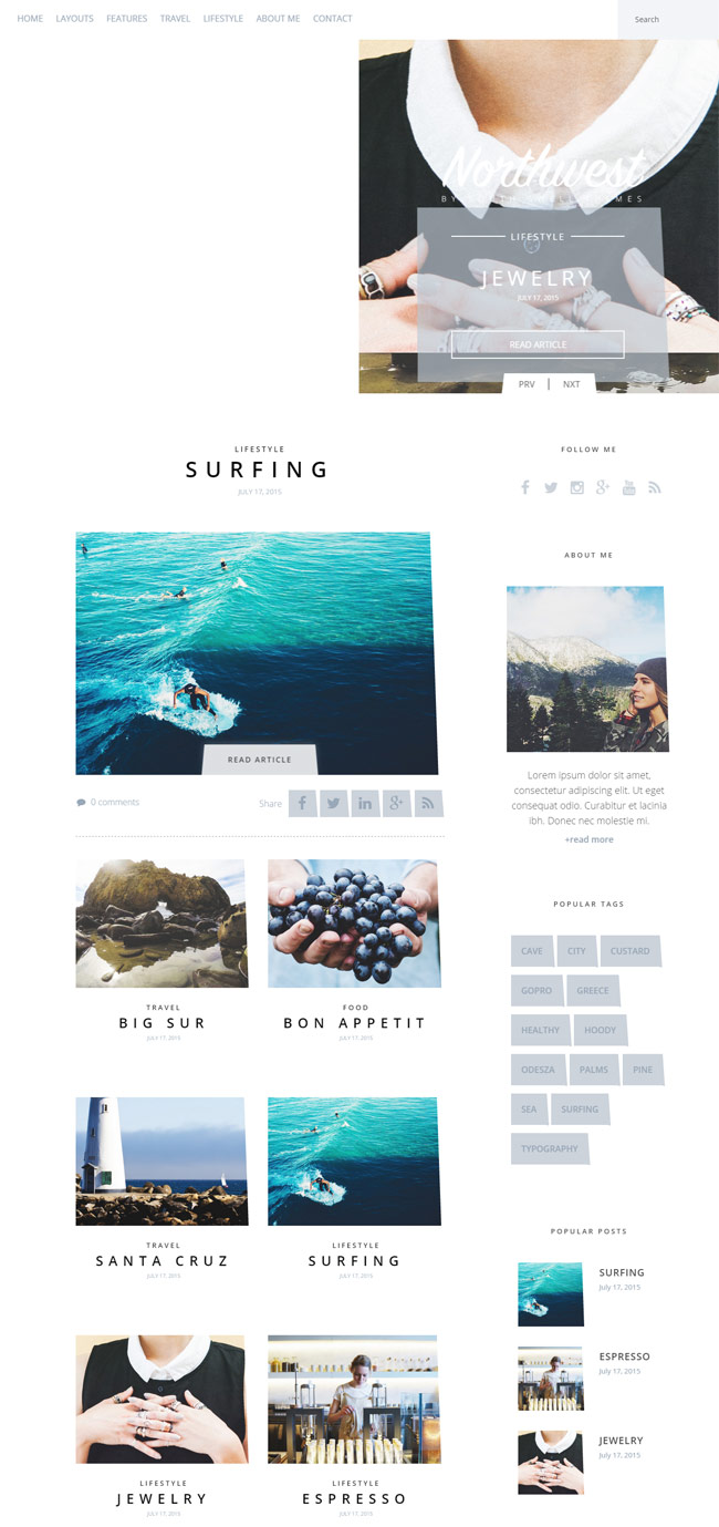 NorthWest-A-Simple-WordPress-Blog-Theme