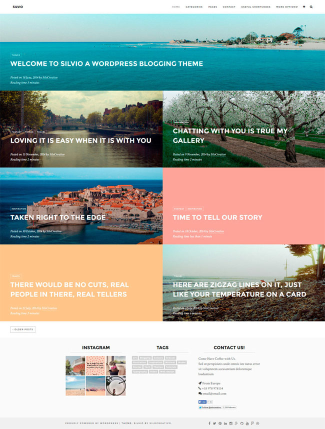 Silvio-WordPress-Travel-Blog-Theme