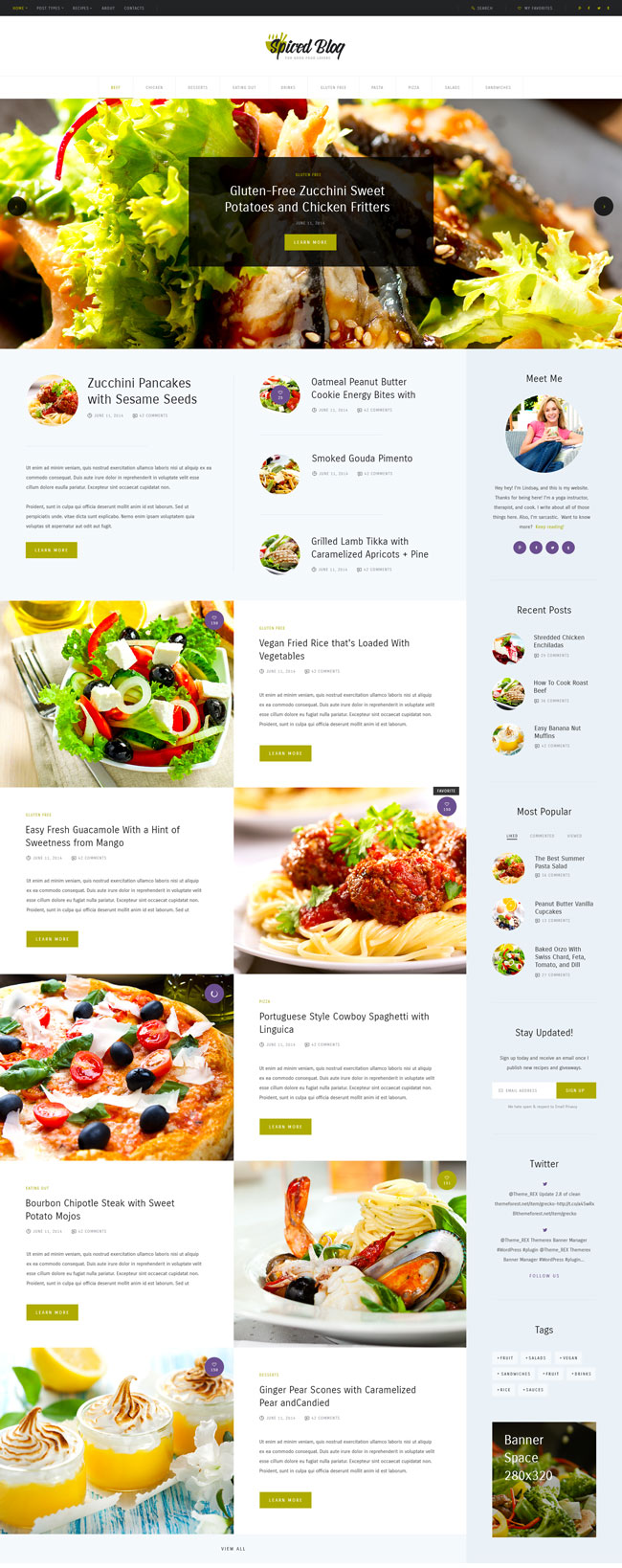 Spiced-Blog-WordPress-Personal-Blog-Theme-for-Food-Blogger