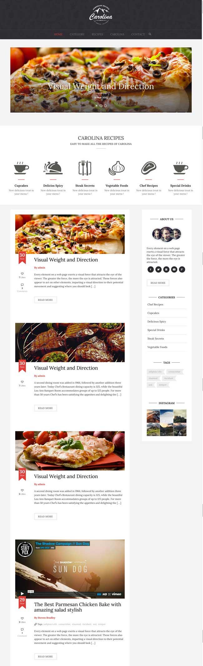 Carolina-Homemade-Recipes-WordPress-Theme