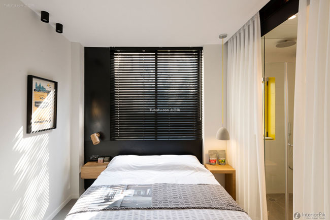 Contemporary designed small bedroom decorating pictures
