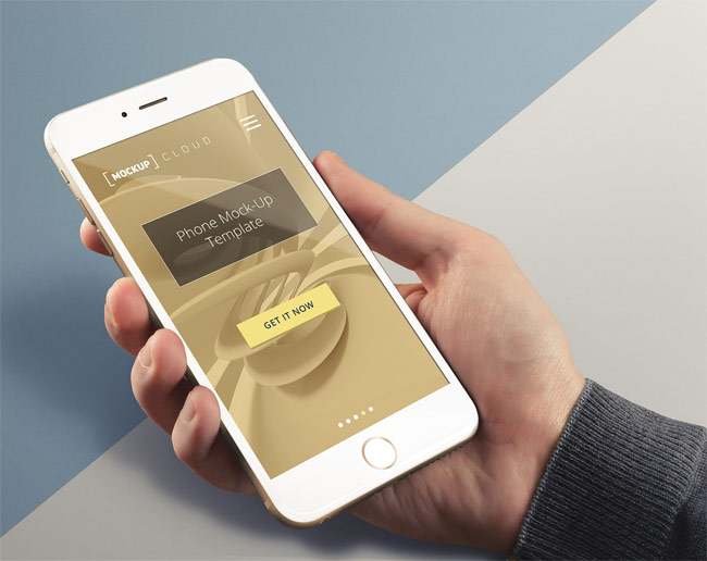 Free iPhone 6 Plus Mockup PSD