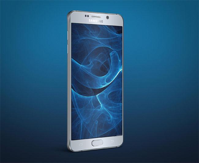 Samsung Galaxy Note 5 Angle PSD Mockup