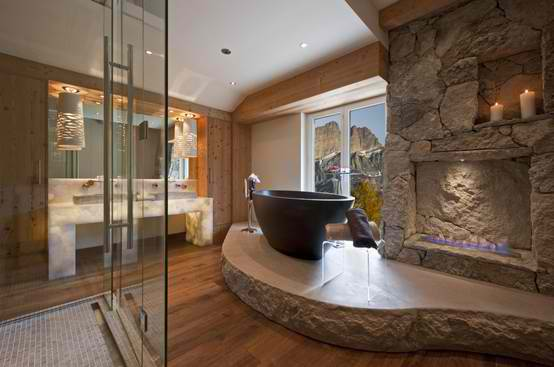 Stone Wall Ideas for Bathroom 01