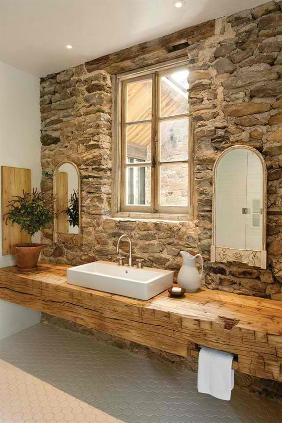 Stone Wall Ideas for Bathroom 02