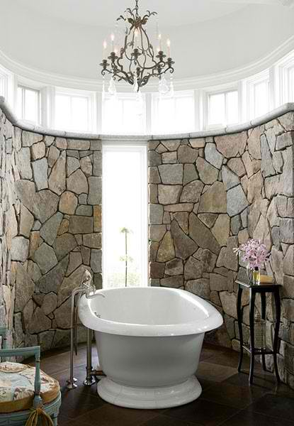 Stone Wall Ideas for Bathroom 03