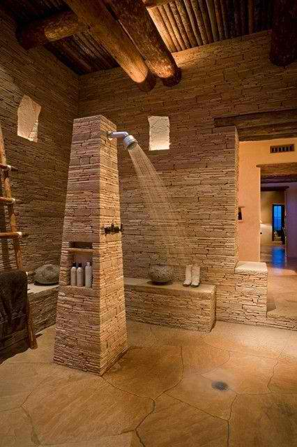 Stone Wall Ideas for Bathroom 04
