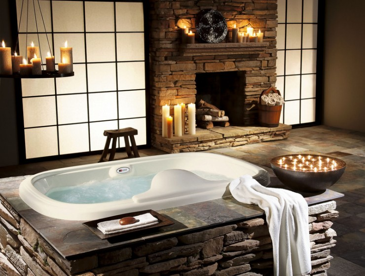 Stone Wall Ideas for Bathroom