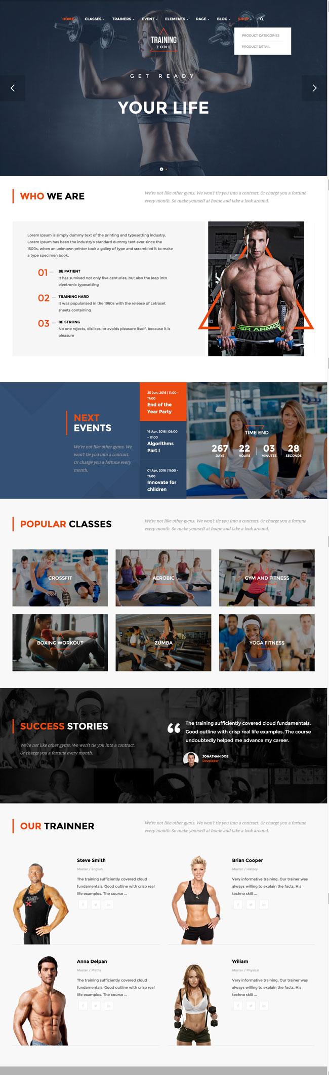 Training-Zone-Gym-Fitness-WordPress-Theme
