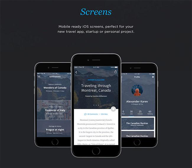 Travel-App-UI-Kit-PSD