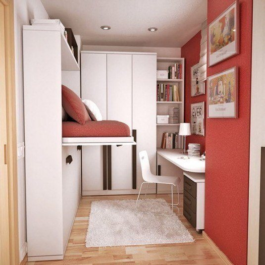 small bedroom red