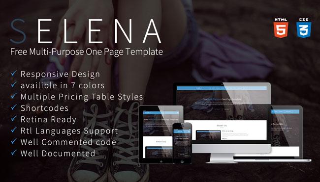 Selena-Free-Multi-purpose-HTML-One-Page-Template-Thumb