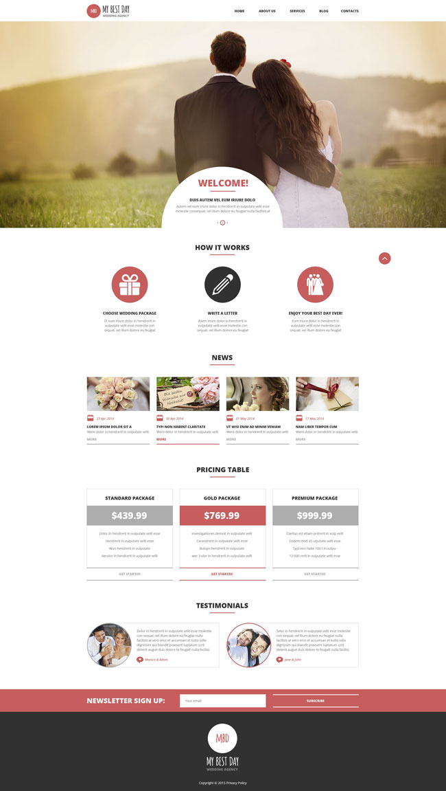 Wedding wordpress themes elegance wordpress theme theme for wedding our carefully curated list of the very best free wordpress wedding themes junglespirit Image collections