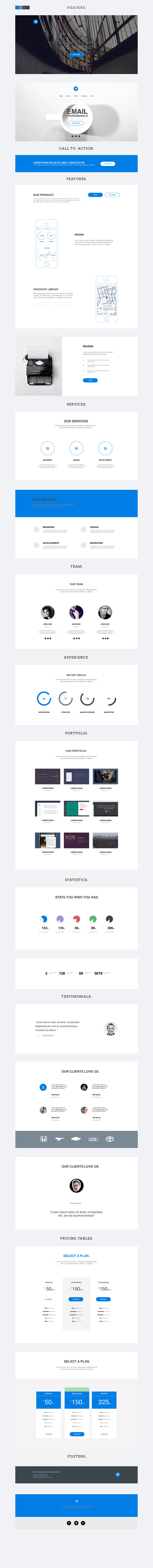Flymaz - Free PSD One Page Template
