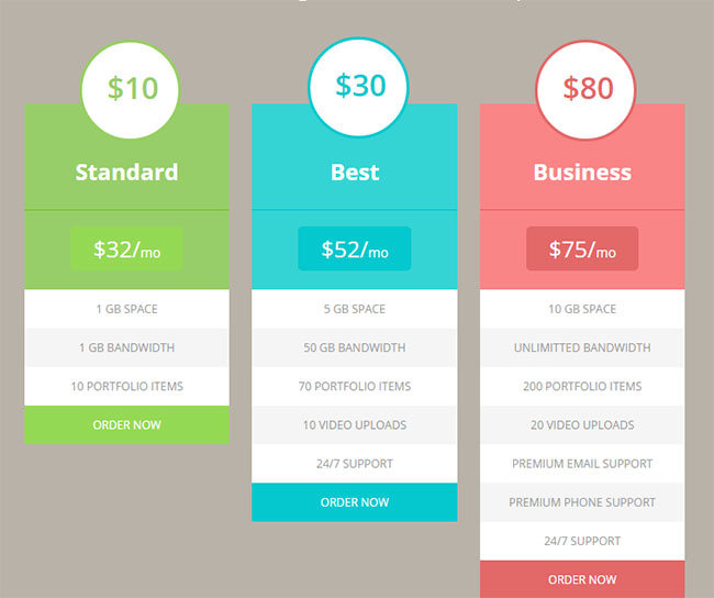 free-flat-pricing-table-html5-template